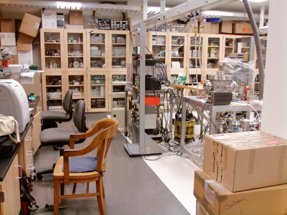 Interior of Professor Gay's lab